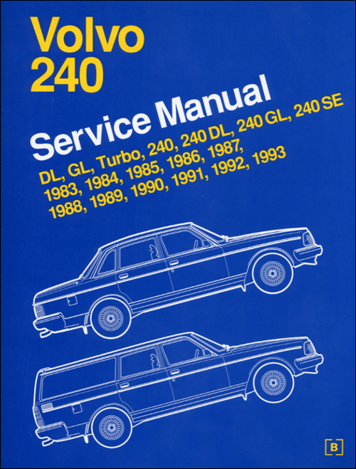 Volvo 240 Service Manual: 1983-1993 front cover