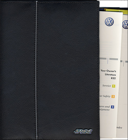 Front Cover Vw Volkswagen Owners Manual R32 2004