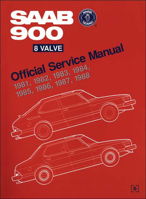Saab 900 8 Valve Official Service Manual: 1981-1988 front cover