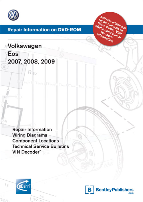 Volkswagen Eos: 2007 Repair Manual on DVD-ROM front cover