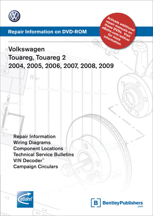 Volkswagen Touareg: 2004-2007 Repair Manual on DVD-ROM front cover