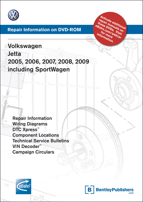 Volkswagen Jetta: 2005-2007 Repair Manual on DVD-ROM front cover