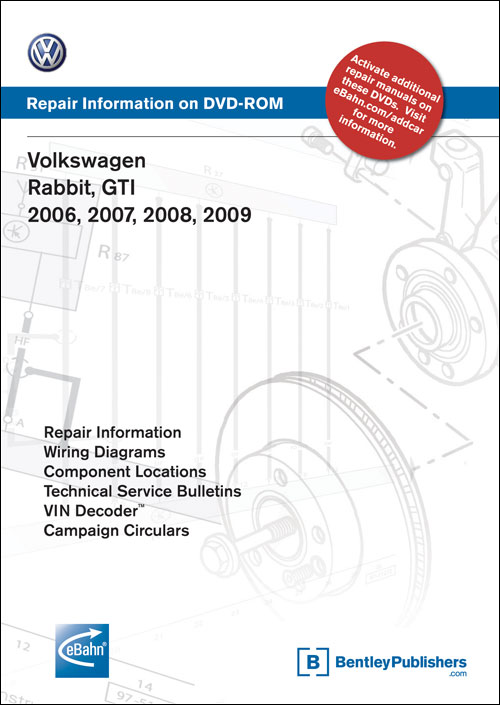 Volkswagen GTI, Rabbit: 2006-2007 Repair Manual on CD-ROM front cover