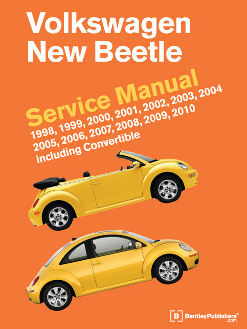 front cover vw volkswagen  beetle service manual