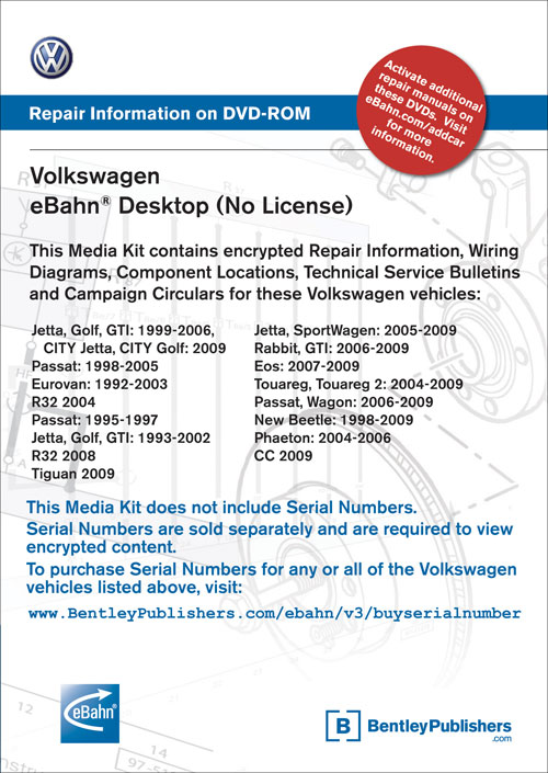 Volkswagen eBahn® Media Kit (No License) front cover
