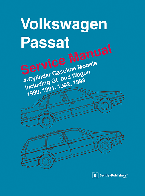 Volkswagen Passat Service Manual: 1990-1993, including GL and Wagon front cover