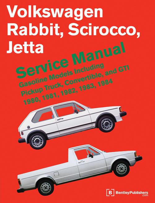 front cover vw volkswagen repair manual rabbit scirocco jetta   bentley