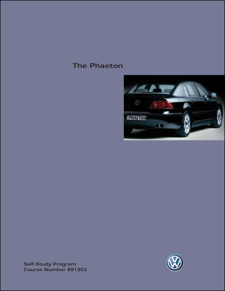 Volkswagen Phaeton Technical Service Training Self-Study Program Front Cover