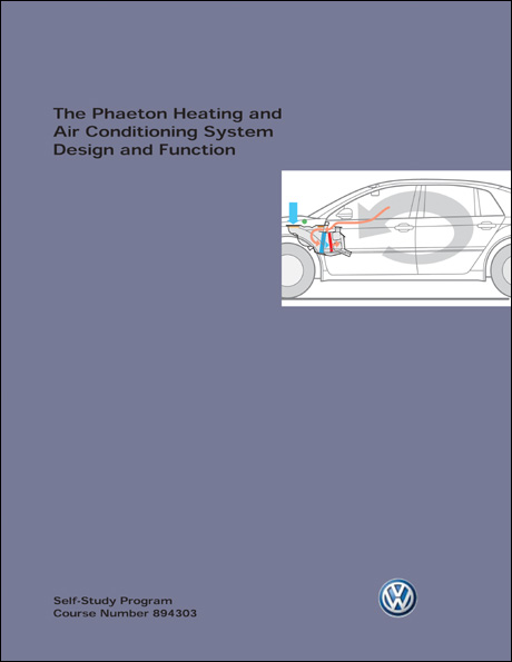 Volkswagen Phaeton Heating and Air Conditioning System Design and Function Technical Service Training Self-Study Program Front Cover