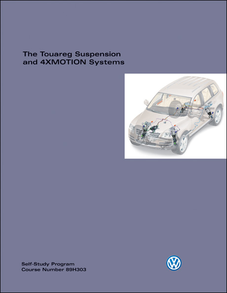 Volkswagen Touareg Suspension and 4XMOTION Systems Technical Service Training Self-Study Program Front Cover