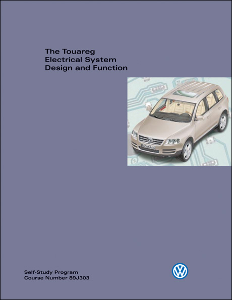 Volkswagen Touareg Electrical System Design and Function Technical Service Training Self-Study Program Front Cover