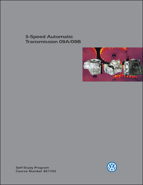 Volkswagen 5-Speed Automatic Transmission 09A/09B Technical Service Training Self-Study Program Front Cover
