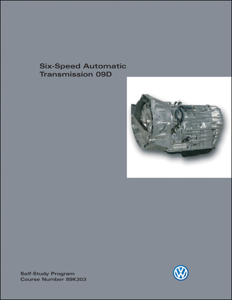 Volkswagen Six-Speed Automatic Transmission 09D Technical Service Training Self-Study Program Front Cover