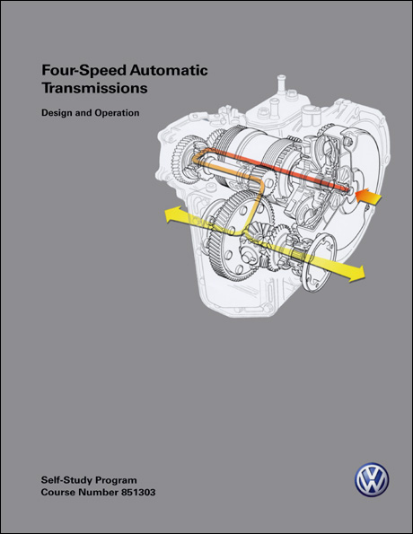 Volkswagen Four-Speed Automatic Transmissions Design and Operation Technical Service Training Self-Study Program Front Cover