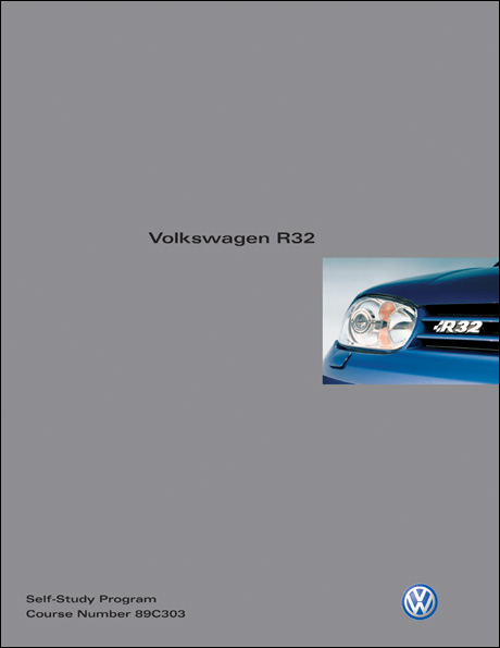 Volkswagen R32 Technical Service Training Self-Study Program Front Cover