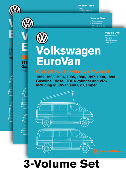 Volkswagen EuroVan Repair Manual: 1992-1999 front cover
