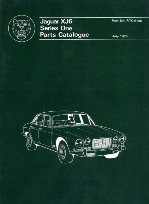 Jaguar XJ6 Series 1 Spare Parts Catalogue: 1968-1972 Front Cover