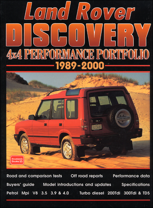 Land Rover Discovery 4x4 Performance Portfolio: 1989-2000 front cover