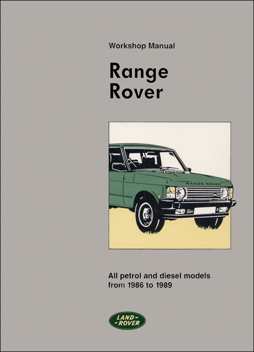 Range Rover Official Workshop Manual: 1986-1989 Front Cover