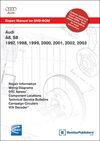 Audi<br />A8 1997, 1998, 1999, 2000, 2001, 2002, 2003<br />S8 2001, 2002, 2003 Repair Manual on DVD-ROM
