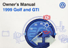 Volkswagen Golf/GTI (A3) Owner's Manual: 1999