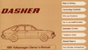 Volkswagen Dasher Owner's Manual: 1981