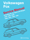 Volkswagen Fox Service Manual: <br>1987-1993