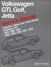 Volkswagen GTI, Golf, Jetta<br/>Service Manual:<br/>1985, 1986, 1987, 1988,<br/>1989, 1990, 1991, 1992