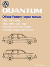 Volkswagen Quantum Official Factory Repair Manual: 1982-1988