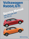 Volkswagen Rabbit, GTI (A5)<br/>Service Manual:<br/>2006, 2007, 2008, 2009