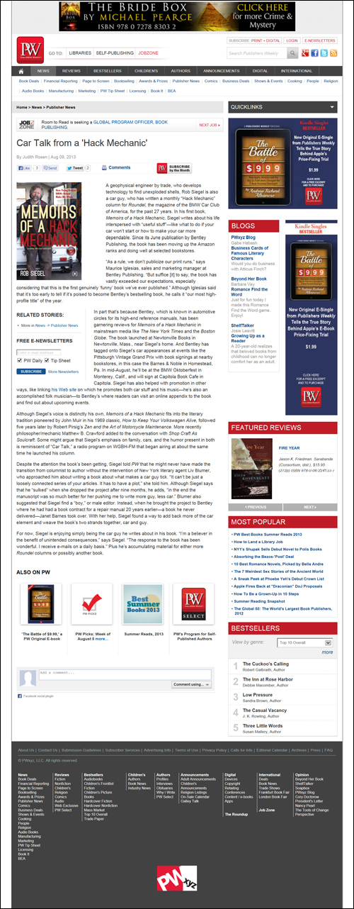 Publishers Weekly - August 9, 2013