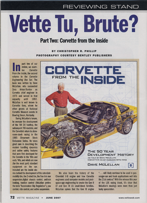 Vette Magazine - June 2007 - review