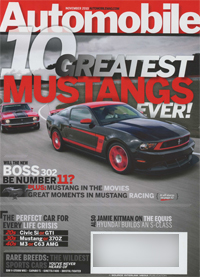 Automobile Magazine - November 2010 - cover