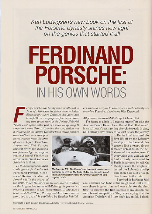 Porsche Panorama - July 2008 - excerpt page 1