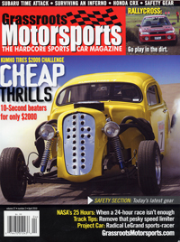 Grassroots Motorsports cover - April 2010 - cover